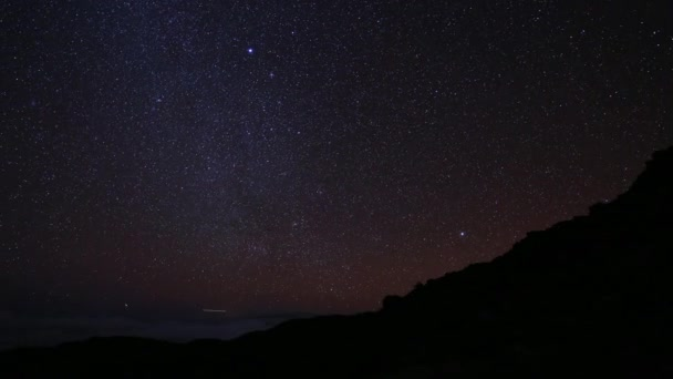 Galaxy Time Lapse over a Mountain