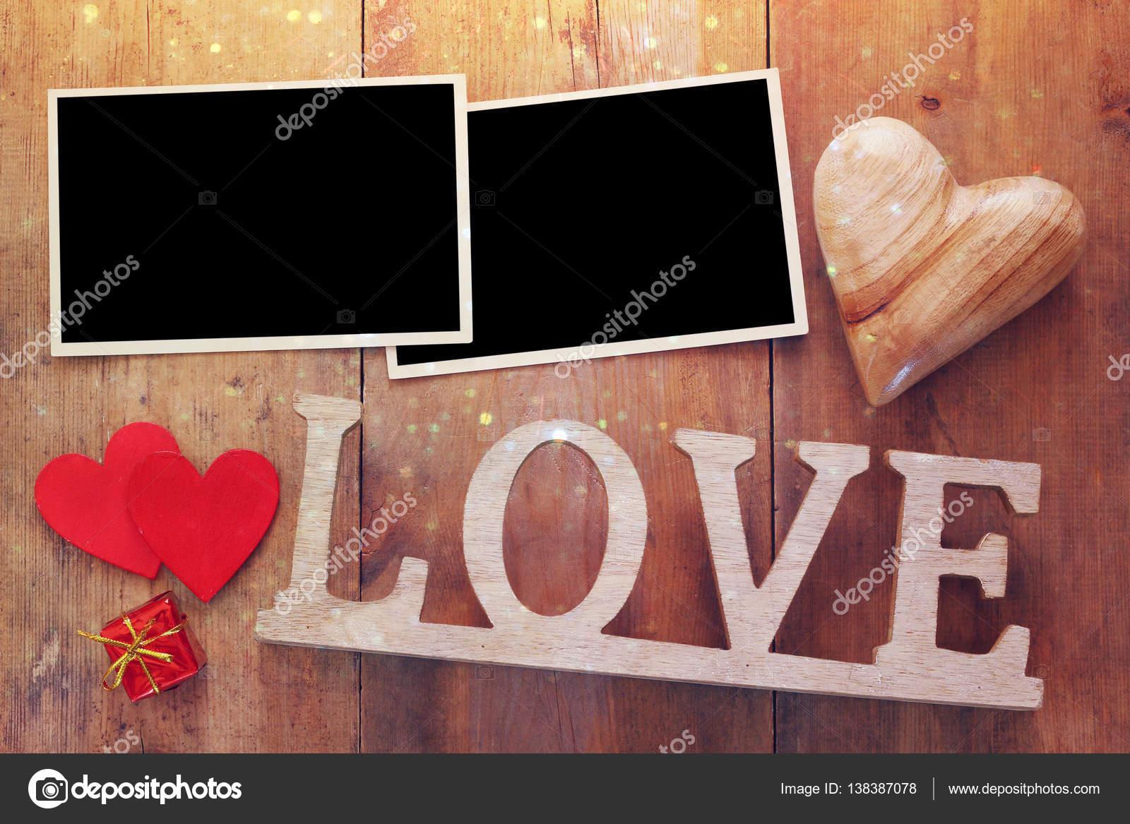 leere Bilderrahmen als nächstes Wort Liebe — Stockfoto © tomert ...
