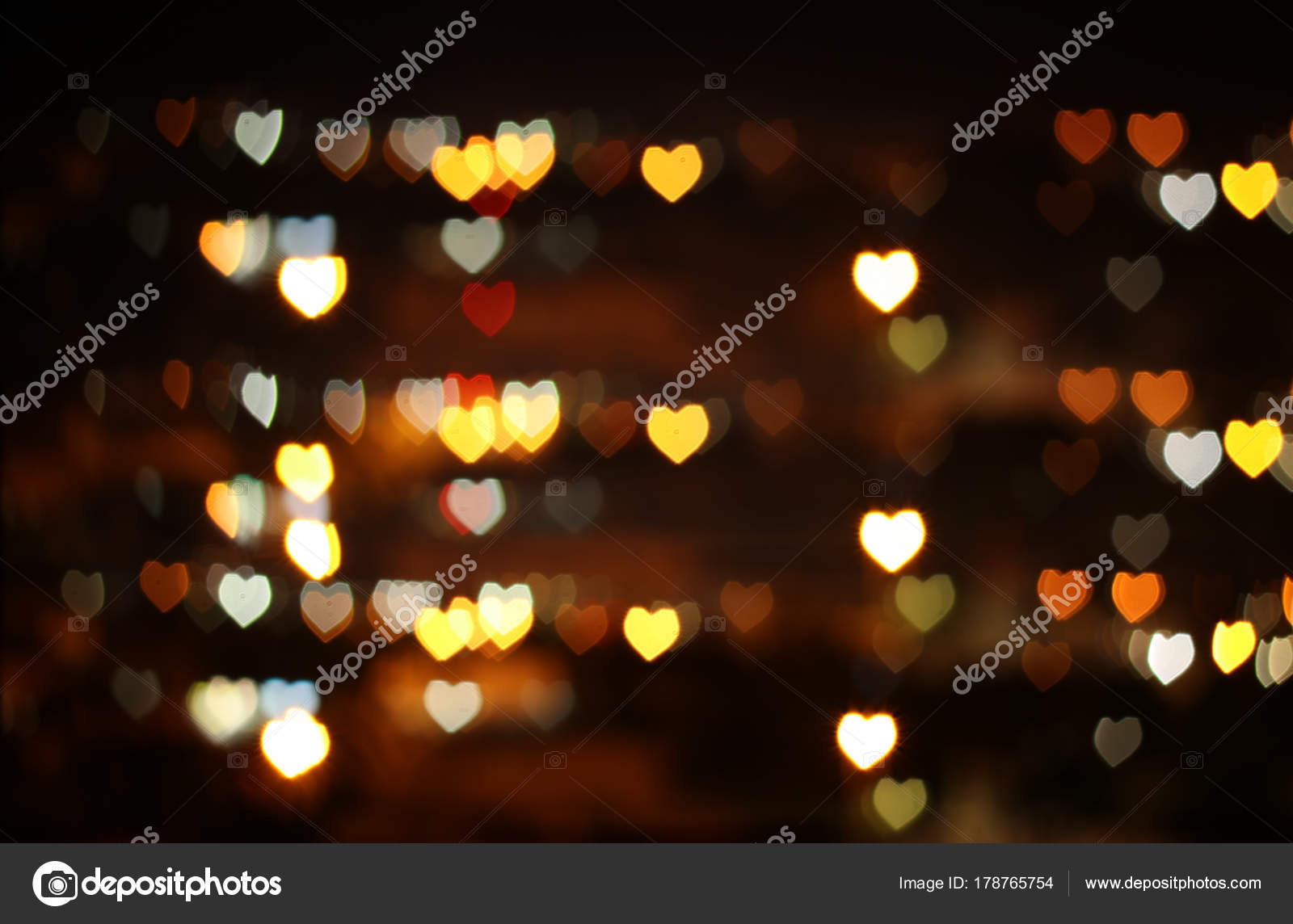 Valentine S Day Romantic Glitter Bokeh Background With Many Hearts