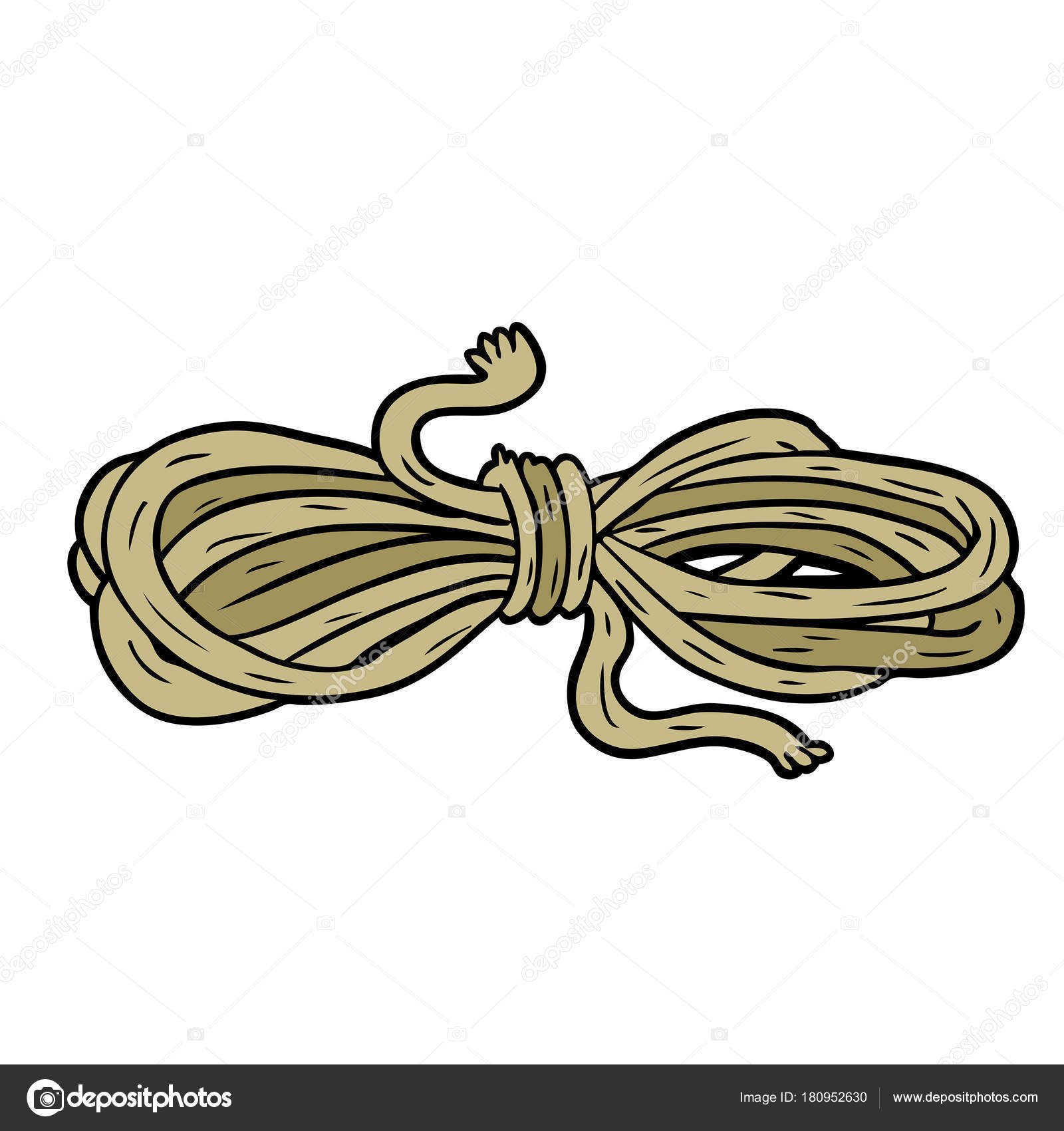 Vector Illustration Cartoon Rope Stock Vector C Lineartestpilot 180952630