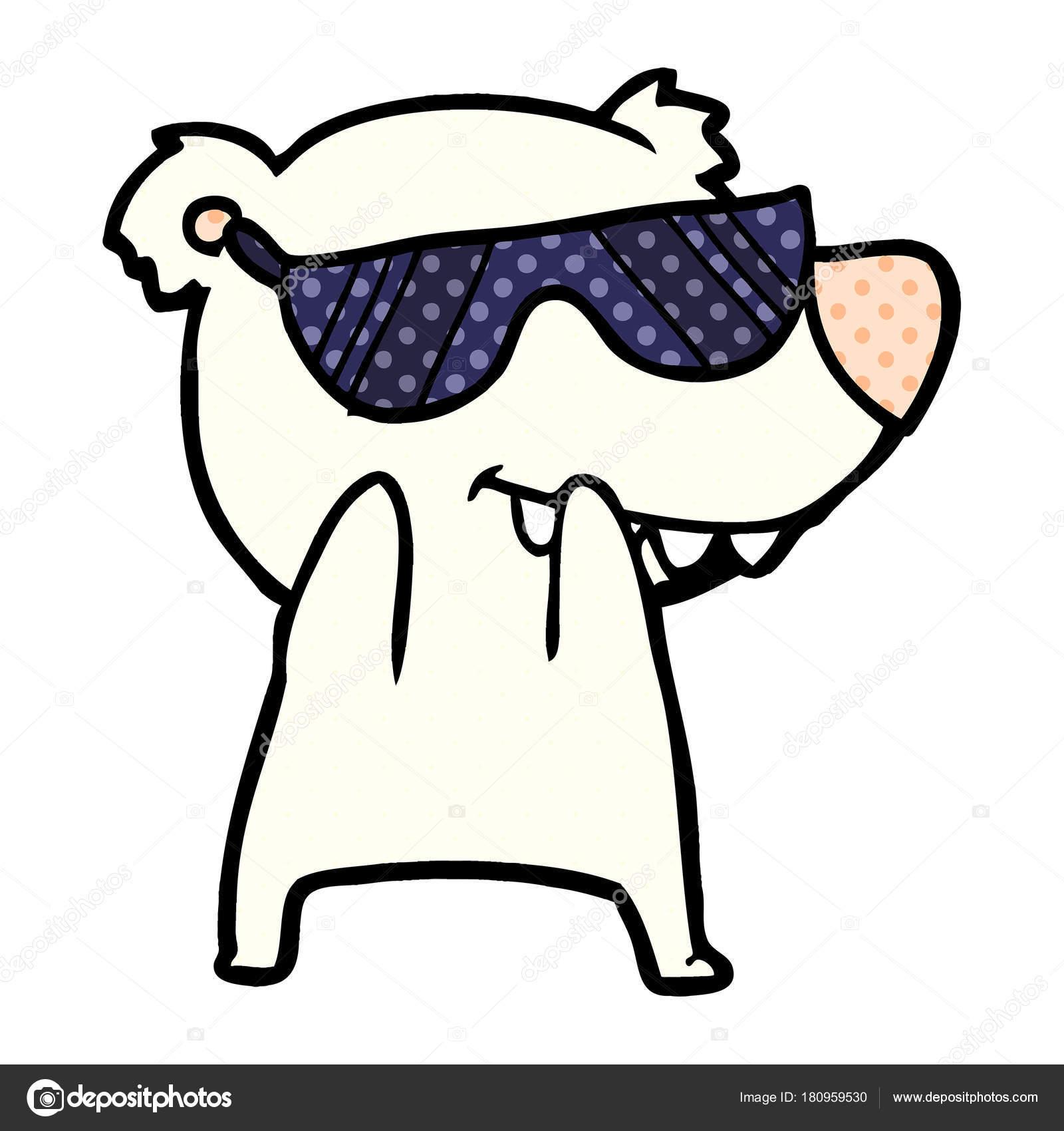 ba528e2ba0 Κινούμενα Σχέδια Αρκούδα Φορώντας Γυαλιά Ηλίου — Διανυσματικό Αρχείο ...