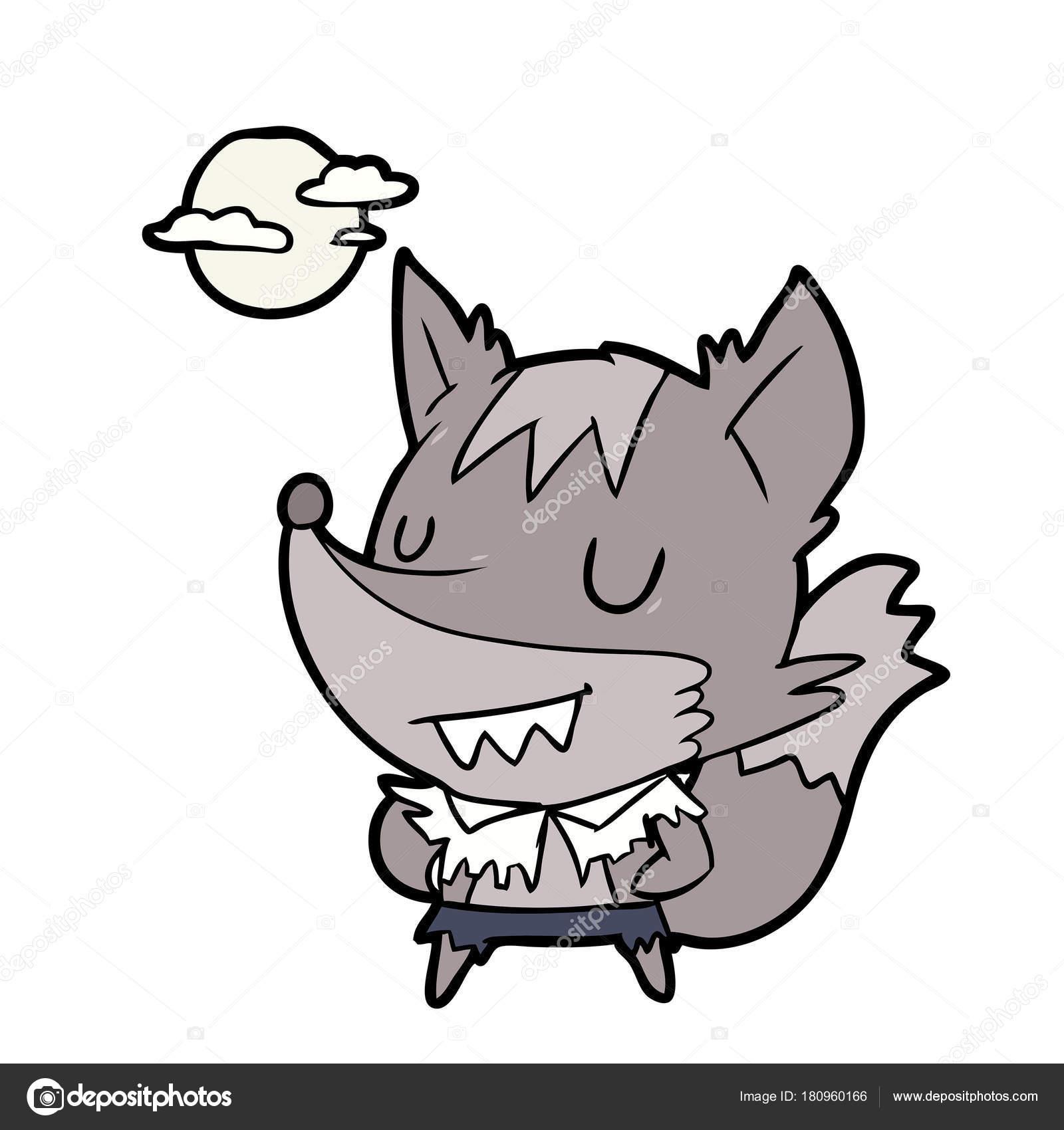 Vector Illustration Cartoon Halloween Werewolf Stock Vector