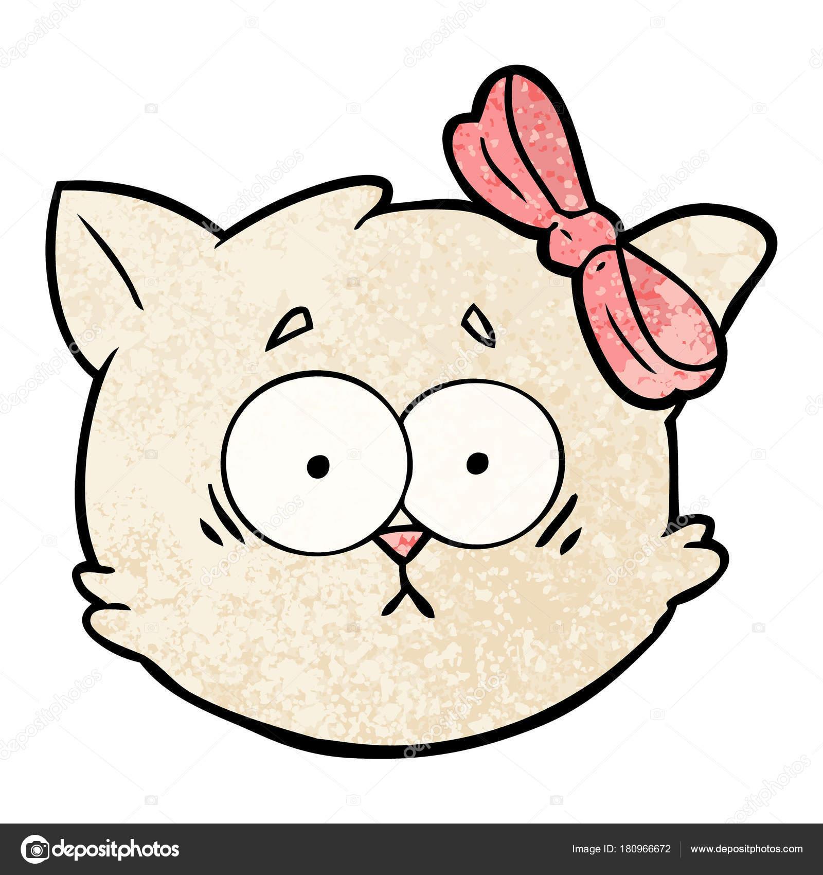 Dibujos Gatitos Tiernos Cara Gato Dibujos Animados Preocupado