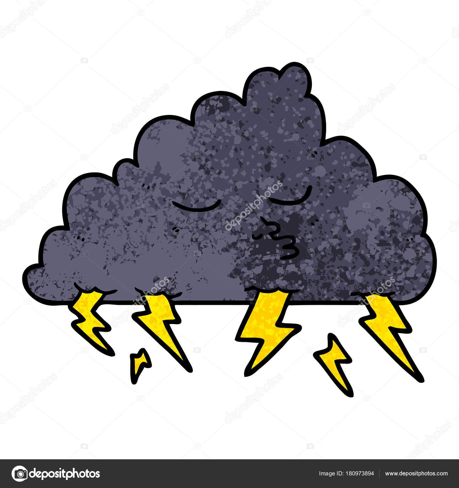 漫画嵐雲のベクトル イラスト ストックベクター Lineartestpilot