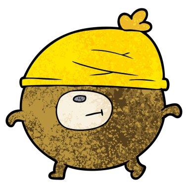 cartoon bear wearing hat