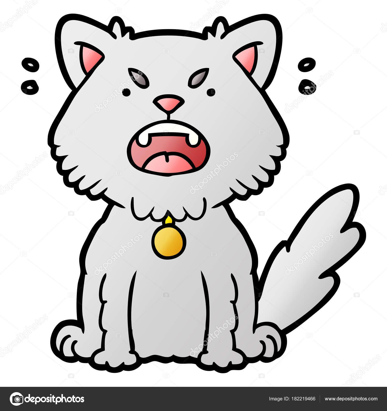 Vector Illustration Cartoon Angry Cat Stock Vector