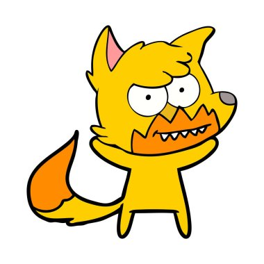 vector illustration of fox cartoon character