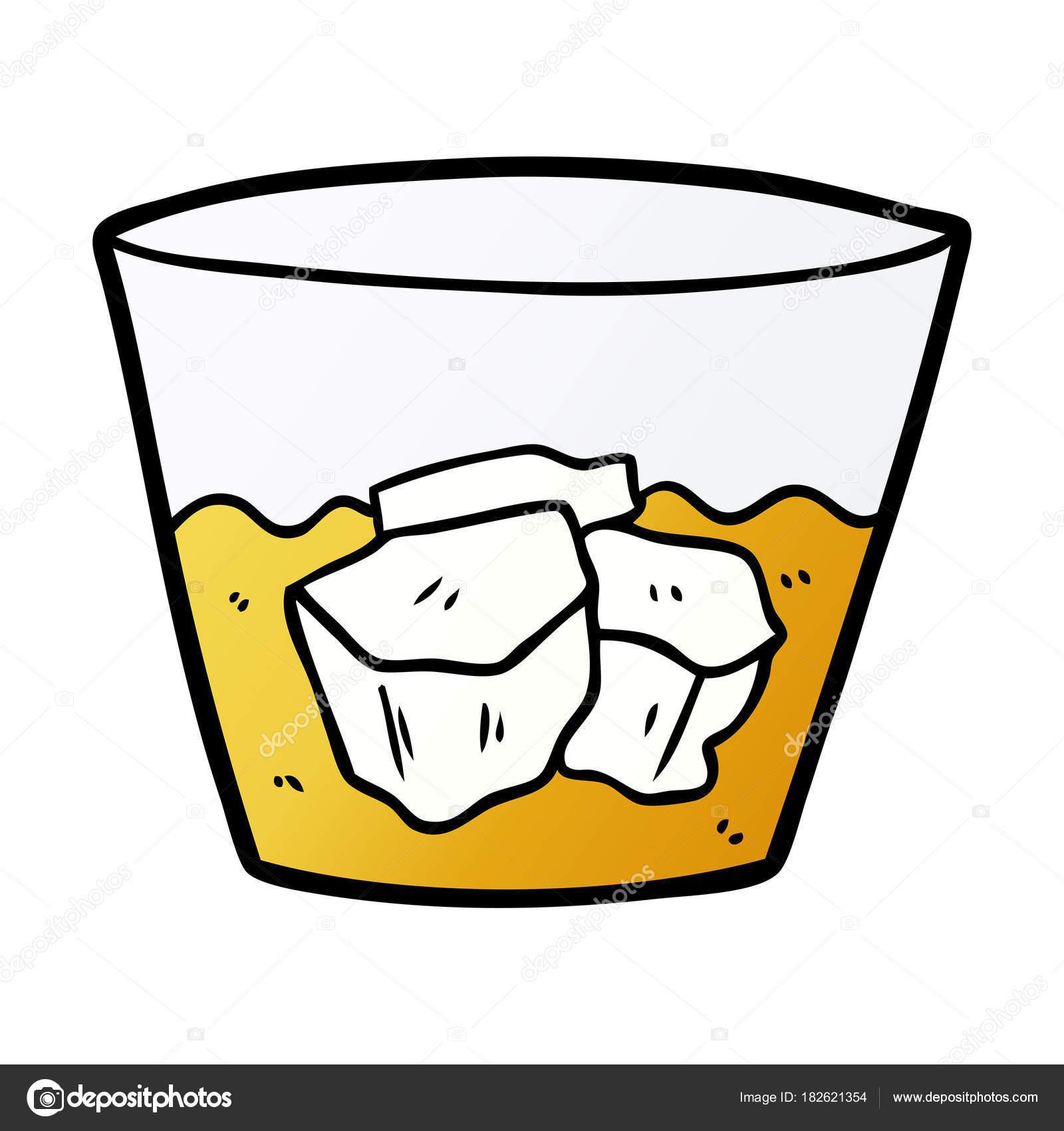 Kresleny Whisky Skle Stock Vektor C Lineartestpilot 182621354