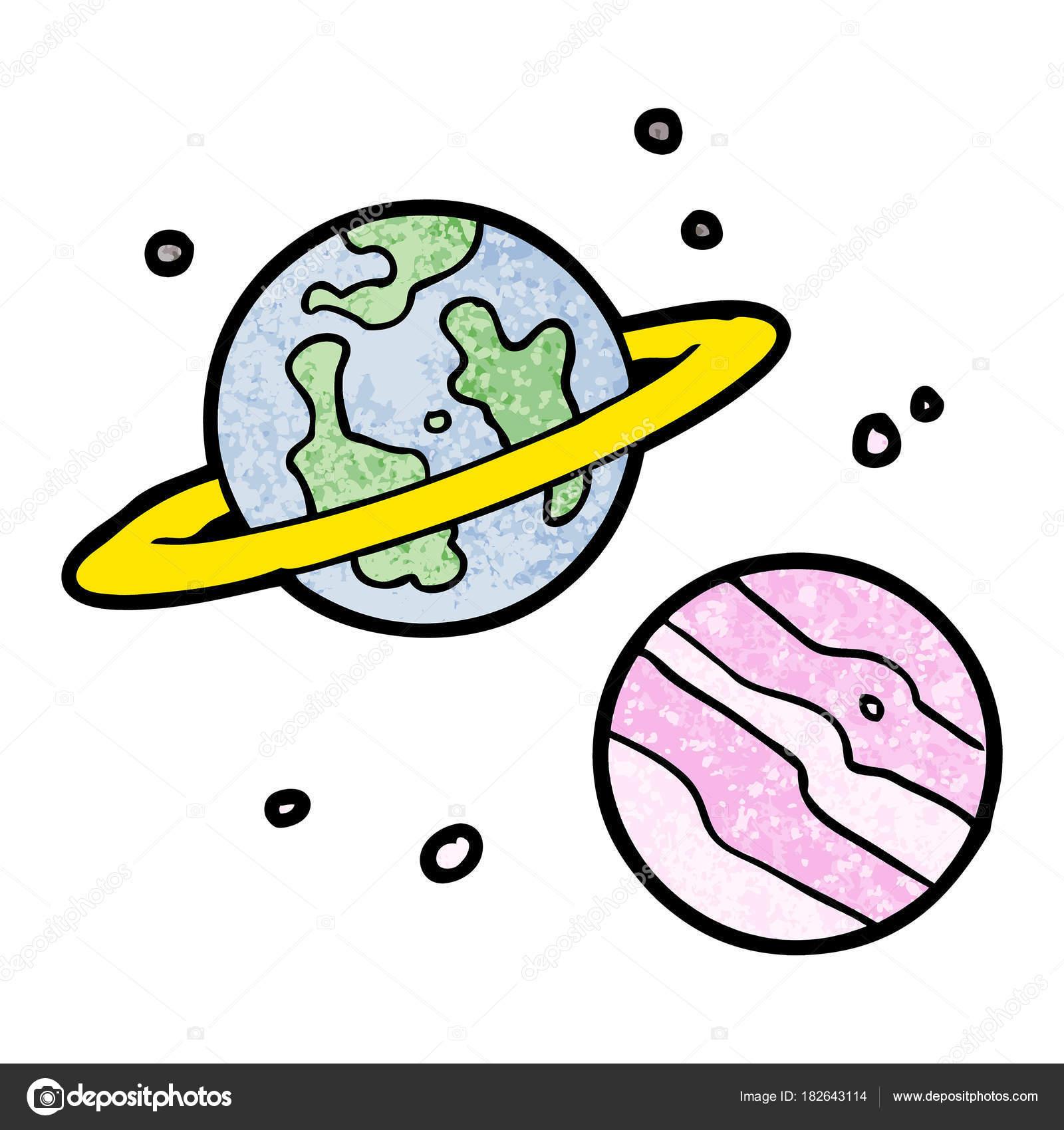 Vektorove Ilustrace Kreslene Planet Stock Vektor C Lineartestpilot