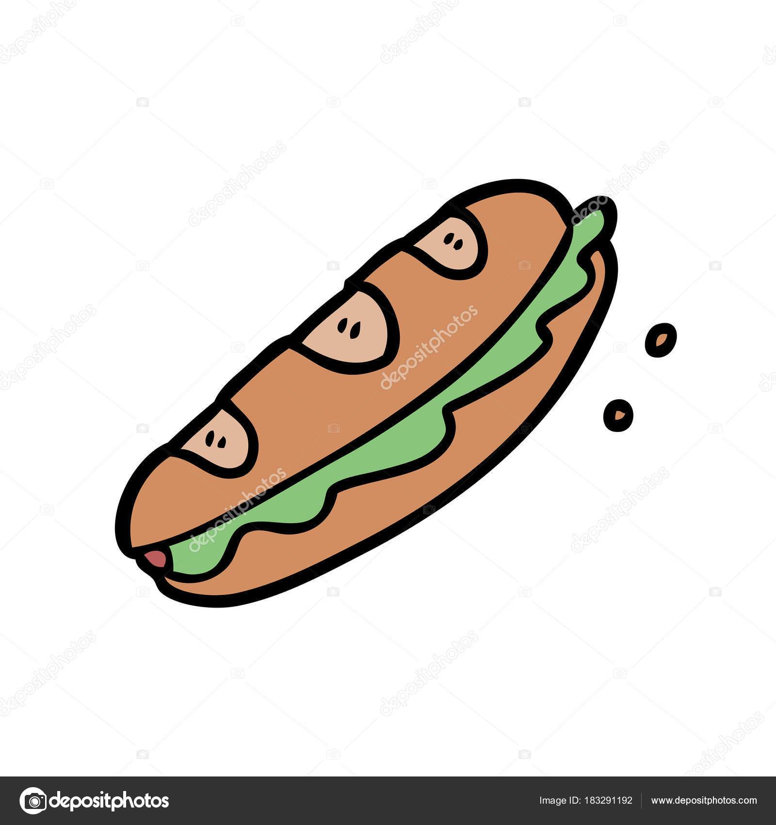 vector illustration sandwich cartoon character stock vector c lineartestpilot 183291192 vector illustration sandwich cartoon character stock vector c lineartestpilot 183291192