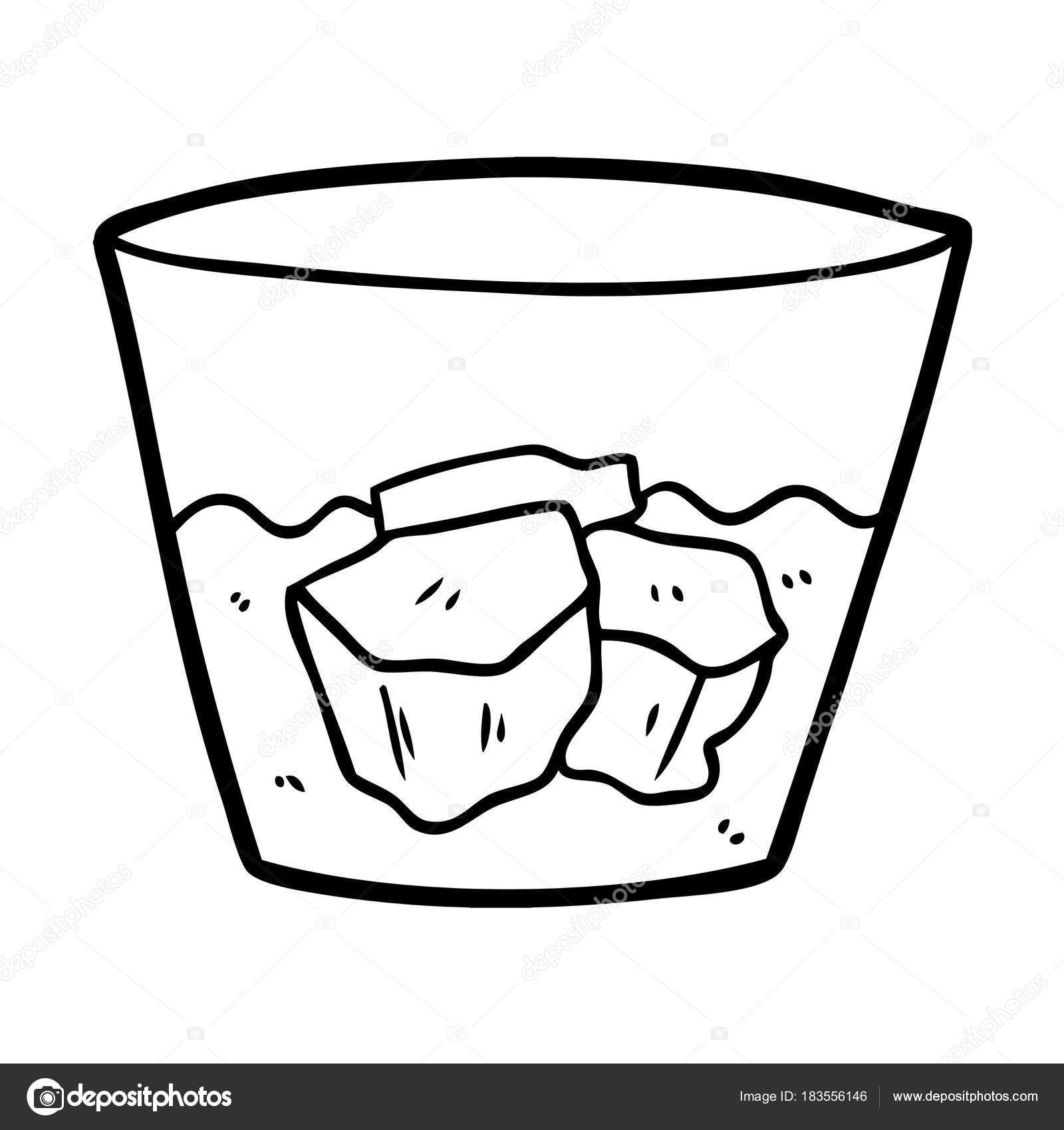 Kresleny Whisky Skle Stock Vektor C Lineartestpilot 183556146