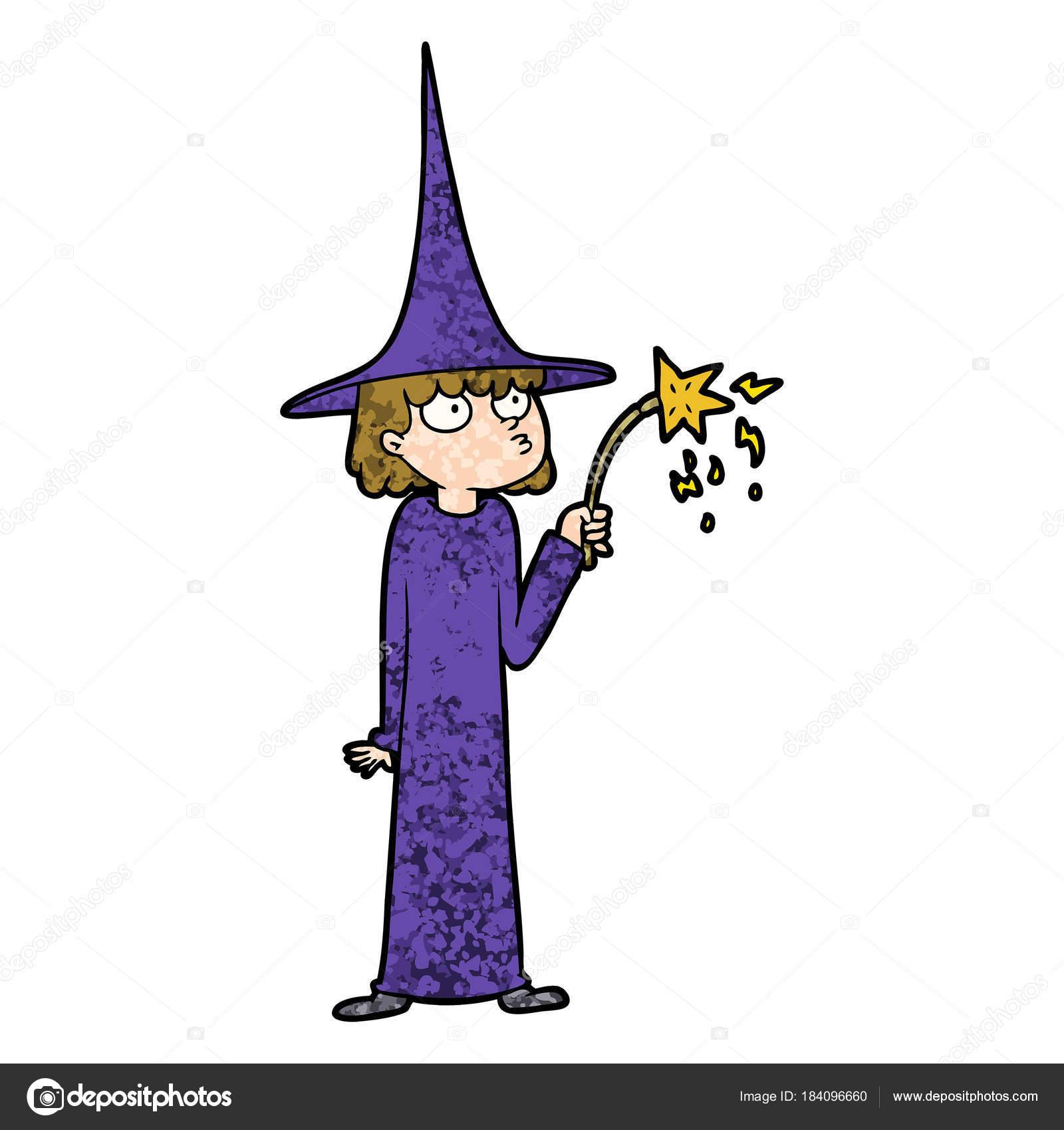 6320ab3408 Ilustração Vetor Bruxa Desenho Animado — Vetores de Stock ...