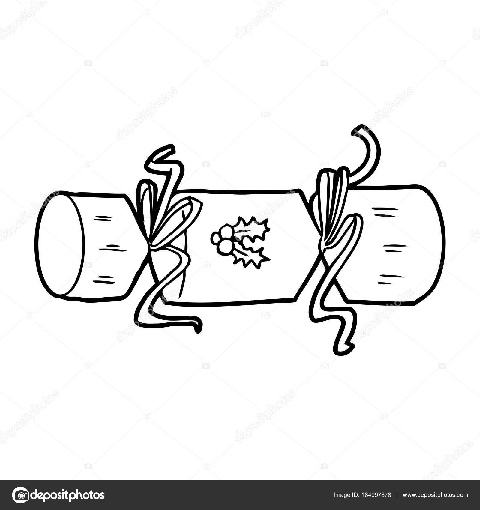 Vektorove Ilustrace Kreslene Vanoce Cracker Stock Vektor
