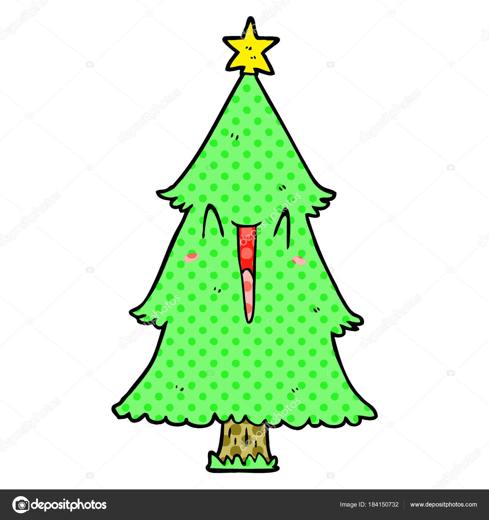 christmas cartoon trees