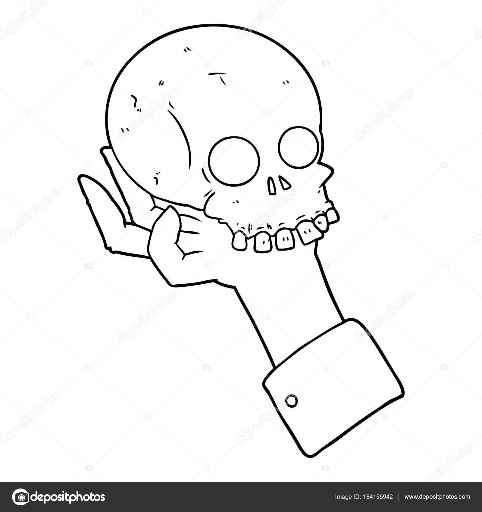 Dibujo De Una Persona Muerta Para Colorear Cráneo Explotación Mano
