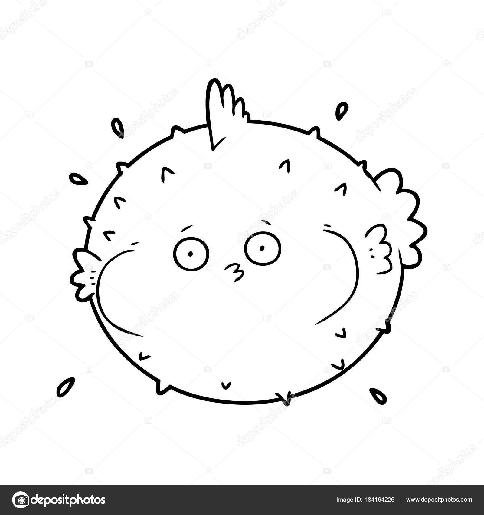 Ilustración Vector Pez Globo Dibujos Animados — Archivo Imágenes ...