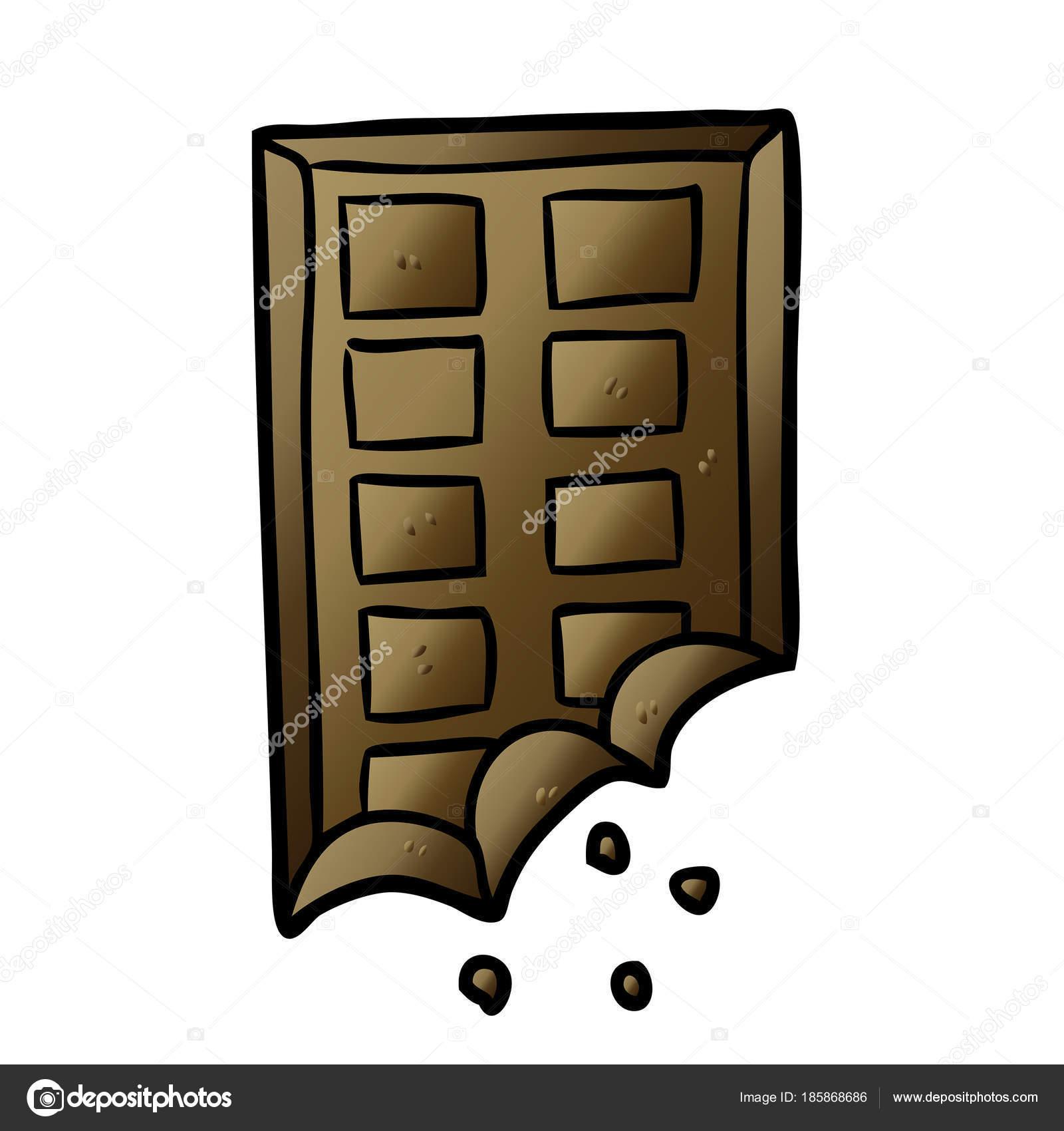 Tablette Dessin Animé Chocolat Image Vectorielle