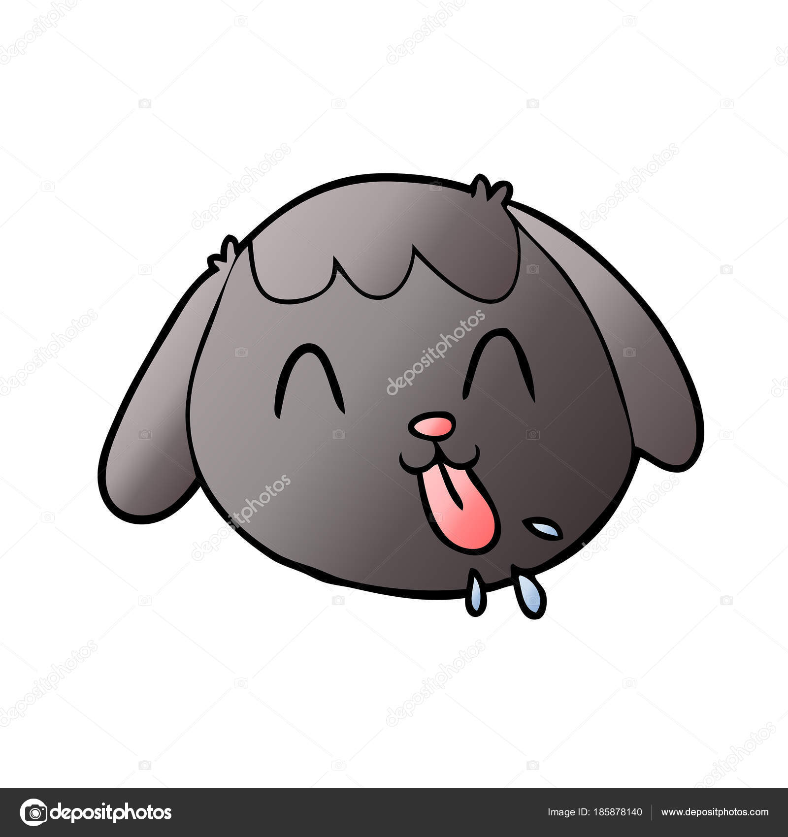 漫画犬顔のベクトル イラスト ストックベクター Lineartestpilot