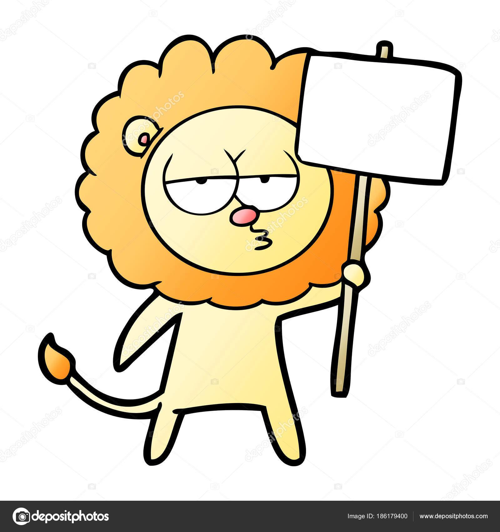 Vektorove Ilustrace Kreslene Nudit Lva Stock Vektor