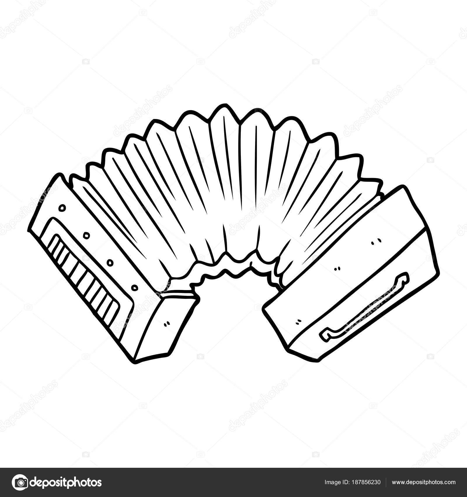 Illustration Vectorielle Accordéon Dans Dessin Animé Image