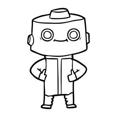 vector illustration of cartoon robot