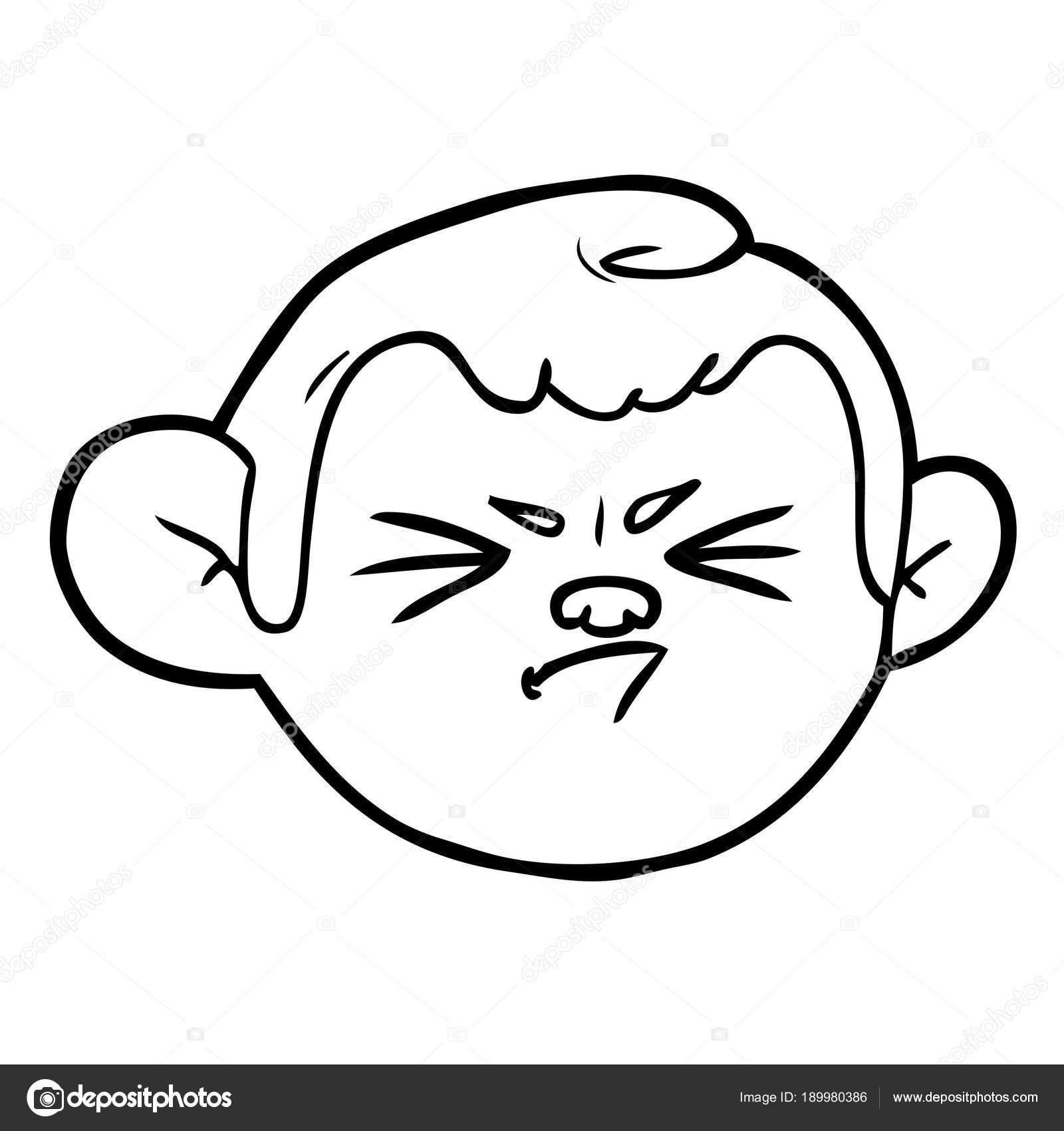 Vector Illustration Cartoon Monkey Face Stock Vector