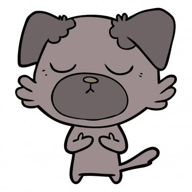 vector illustration of cute cartoon dog