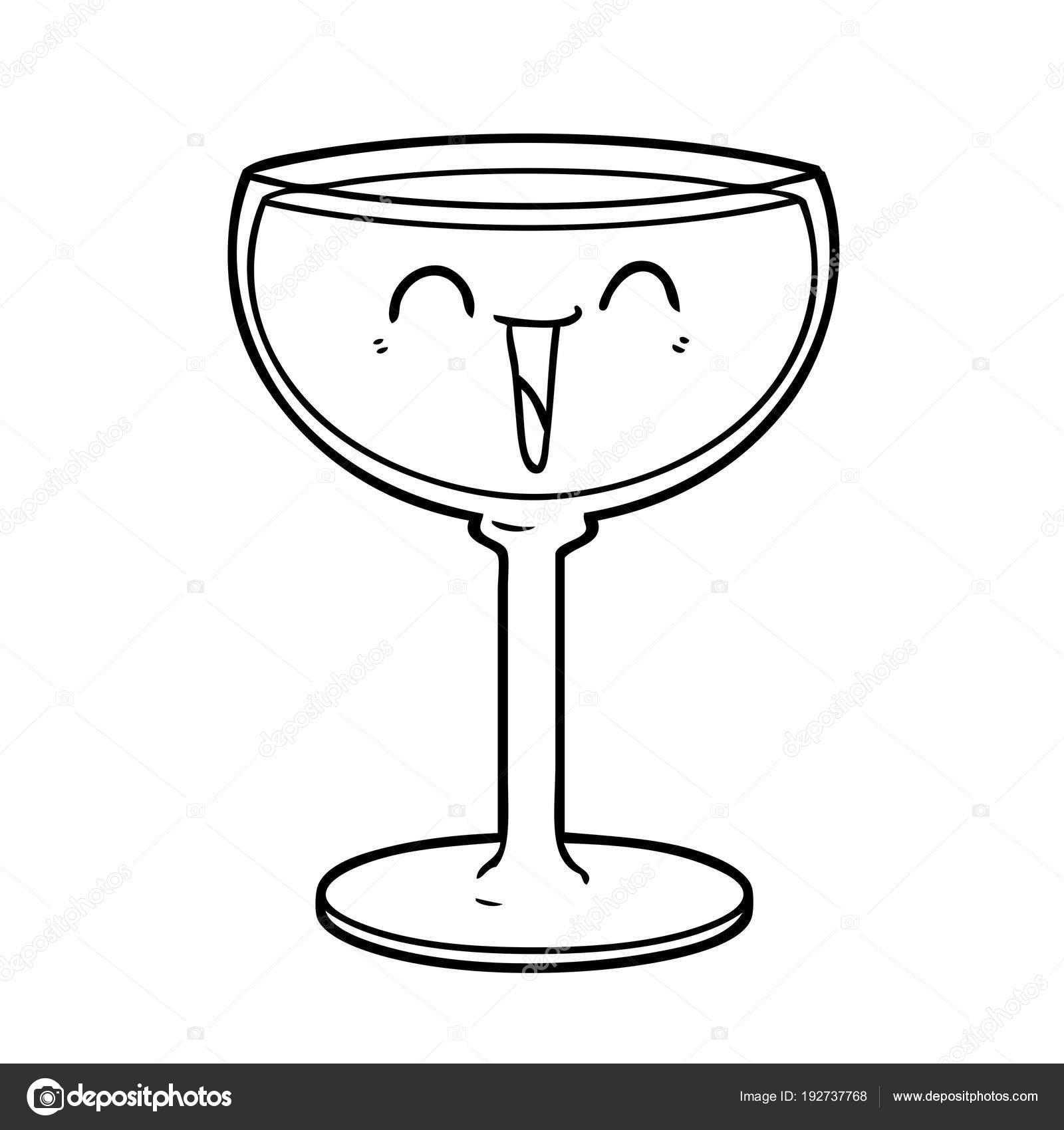 Dessin anim verre vin image vectorielle lineartestpilot - Dessin de verre ...