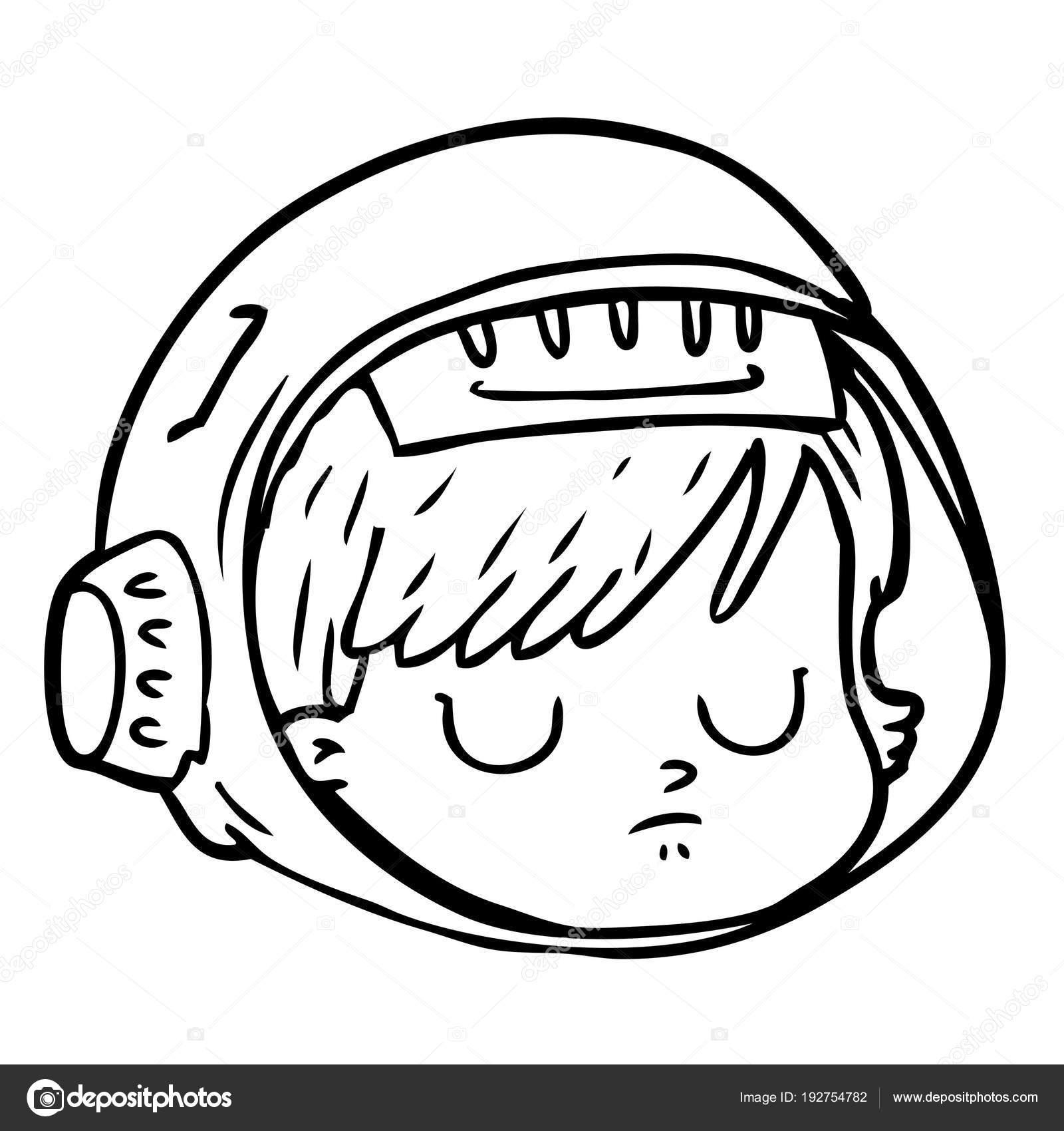 Vector Illustration Cartoon Astronaut Face Stock Vector