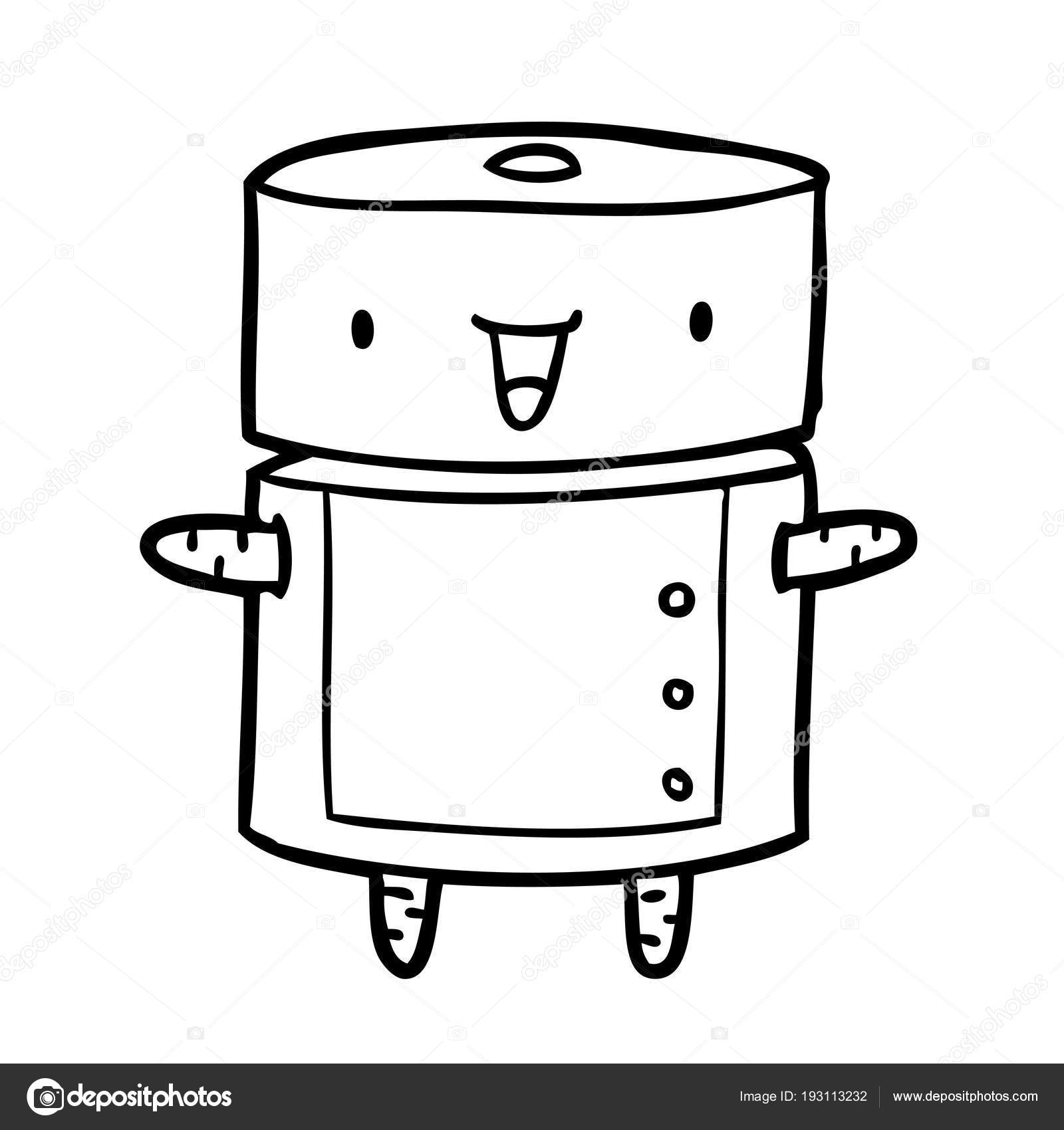 Skvela Kresba Robota Stock Vektor C Lineartestpilot 193113232