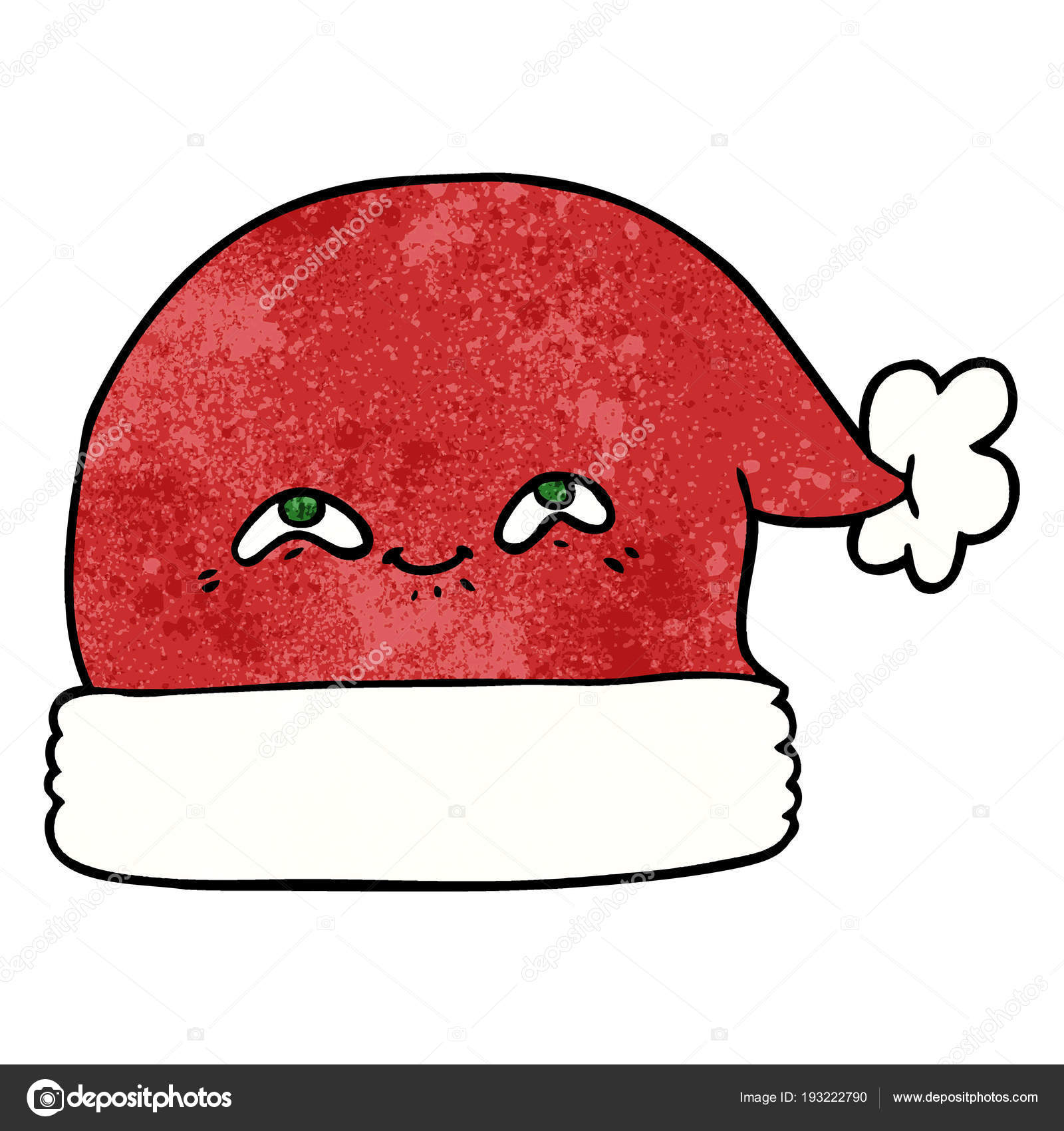 8e6cd4dcc24b1 Cartoon Christmas Santa Hat — Stock Vector © lineartestpilot  193222790