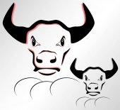 Ilustrace z Býčí hlava na bílém pozadí