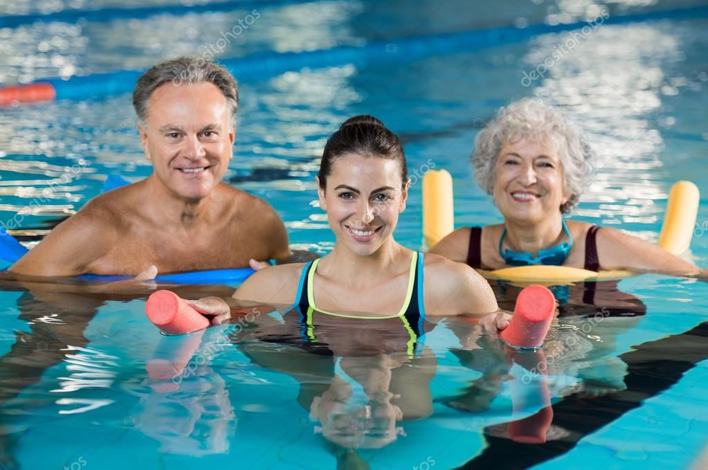 Aqua gym class