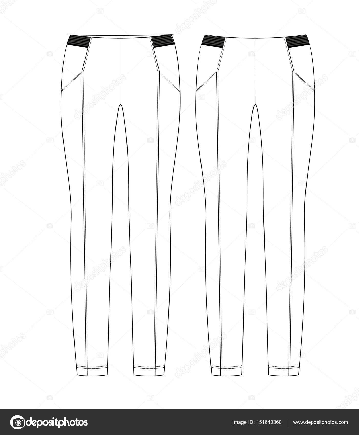 profiter du prix le plus bas nouvelles photos dernière sélection Dessin technique de femme Leggings en couleur noir et blanc ...