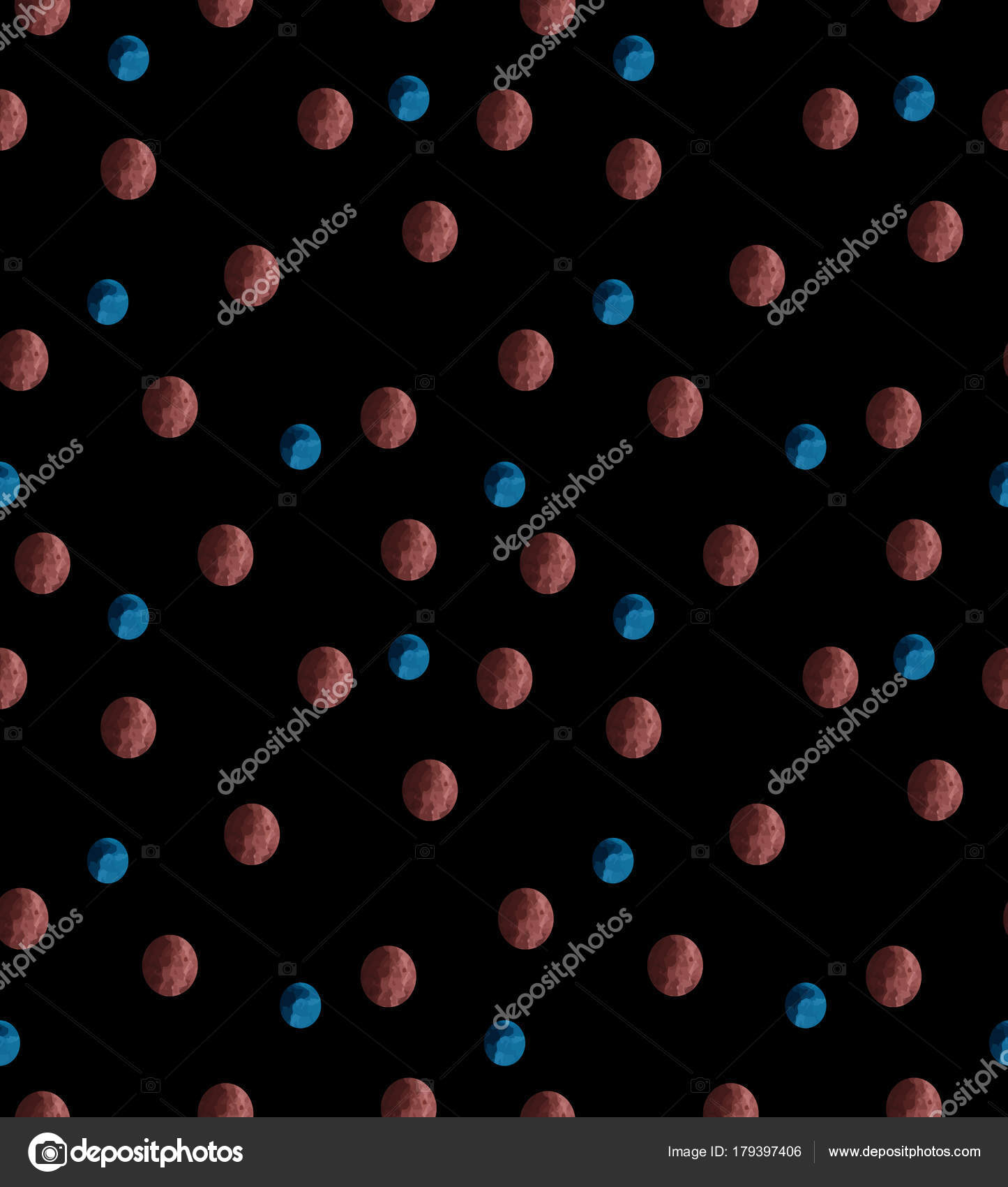 255738713304 barevné puntíky vzor modré a červené na tmavém pozadí — Stock Vektor ...