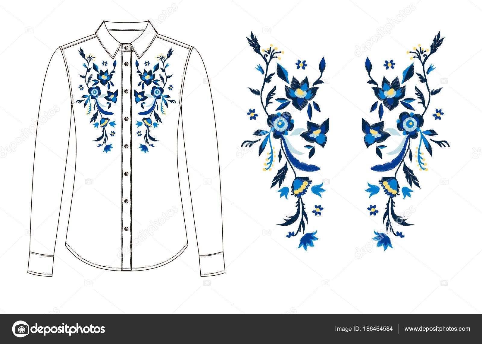 Dibujos: para bordados de blusas | dibujo de piezas de la blusa con ...