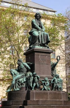 Statue of the musician Ludwig van Beethoven in Vienna, Austria