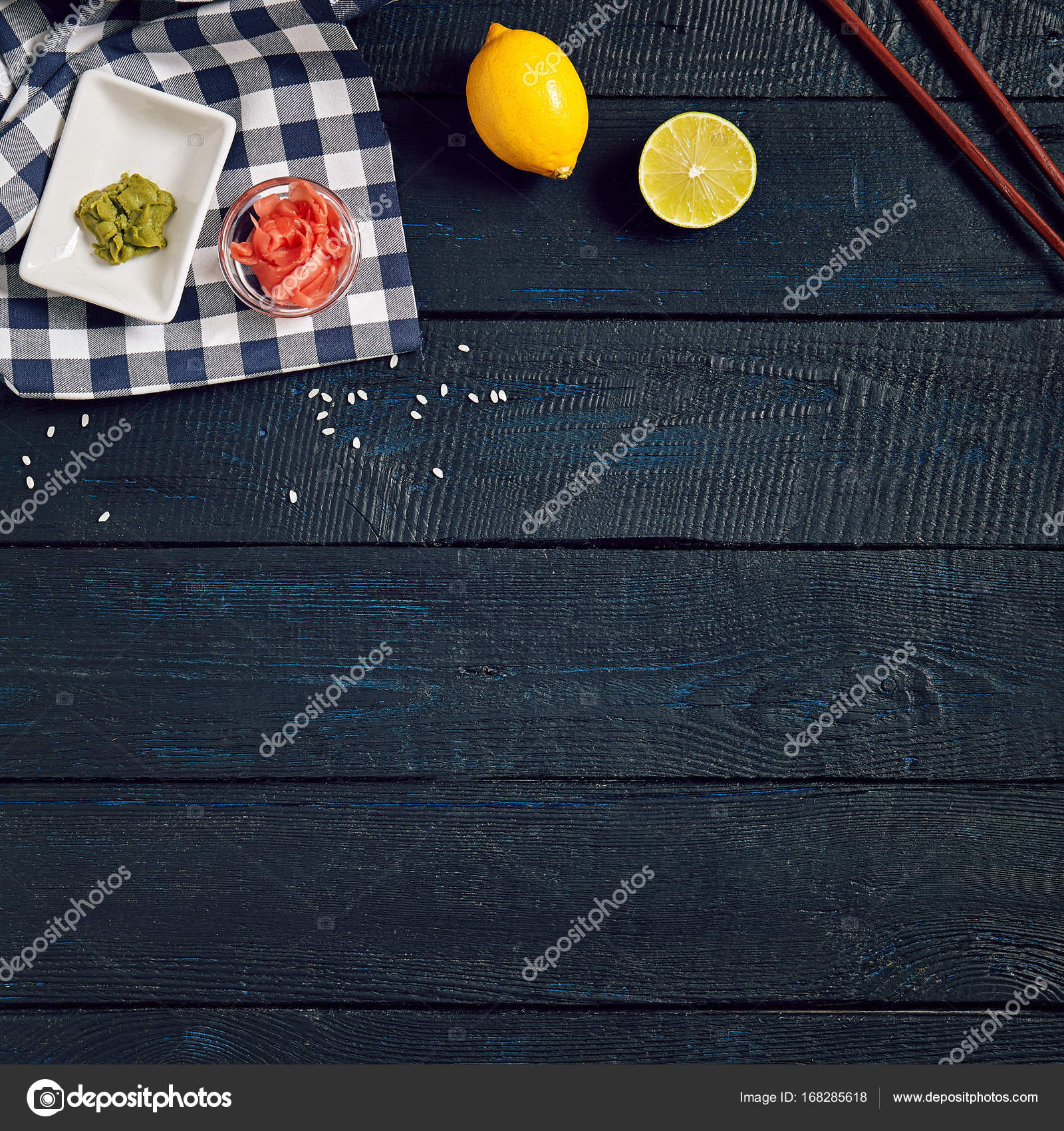 Japanese table setup u2014 Stock Photo & Japanese table setup u2014 Stock Photo © ryzhkov86 #168285618
