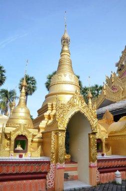 Popular Burmese Temple in Penang, Malaysia