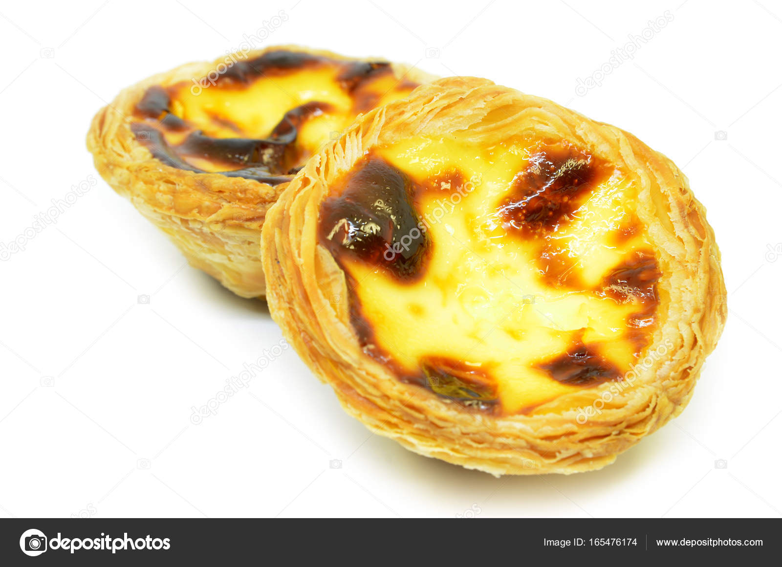 Typische Portugiesische Pudding Kuchen Stockfoto C Tang90246