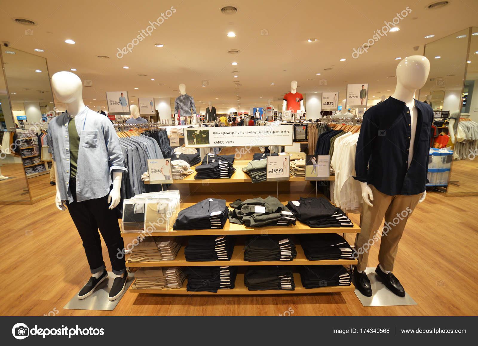 uniqlo store located in kota kinabalu stock photo