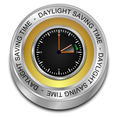 Daylight saving time button - 3D illustration