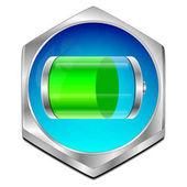 Tlačítko baterie - 3d obrázek