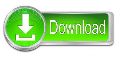 Download button - 3D illustration