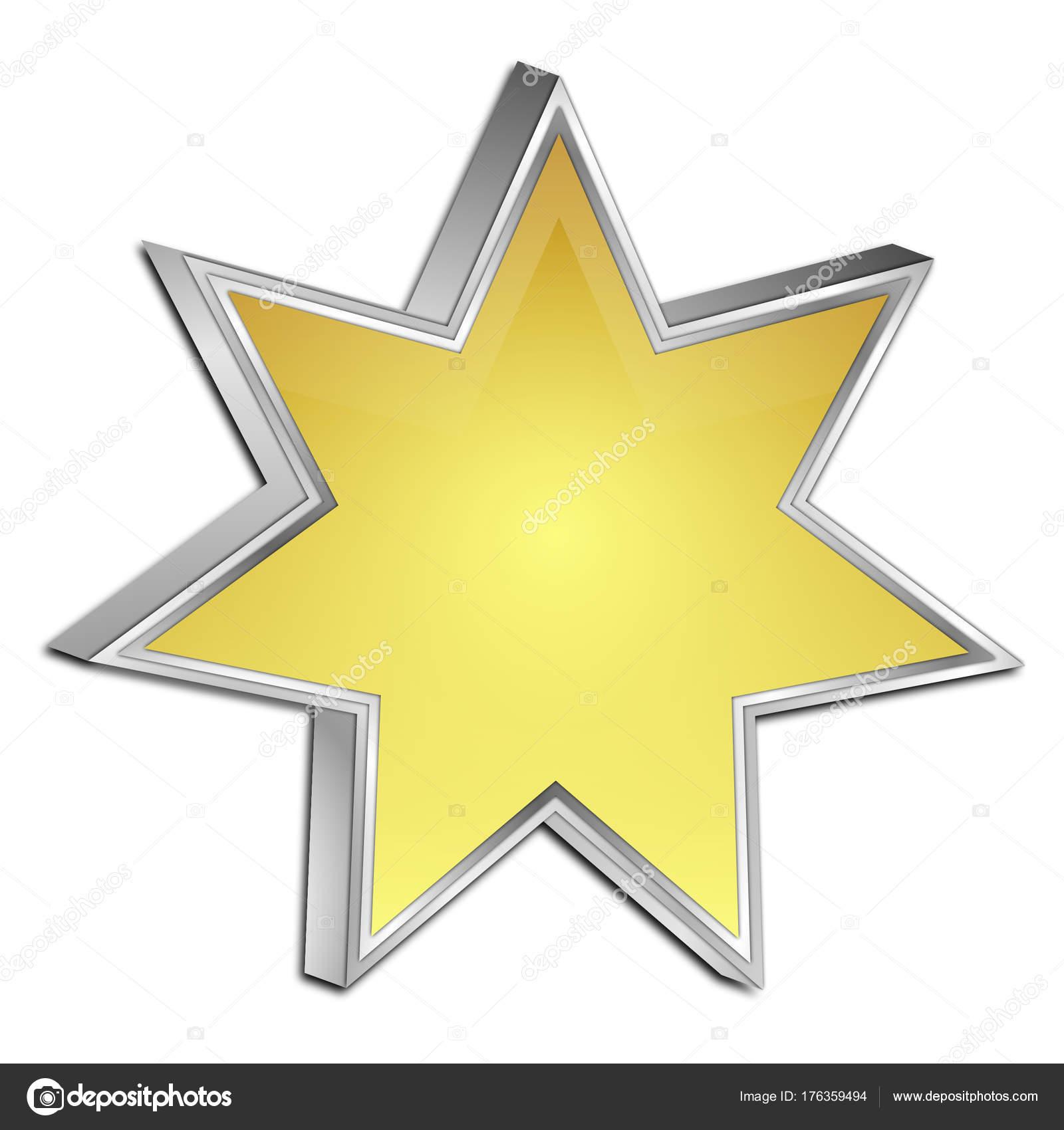 Goldene Leeren Stern Taste Illustration — Stockfoto © wwwebmeister ...