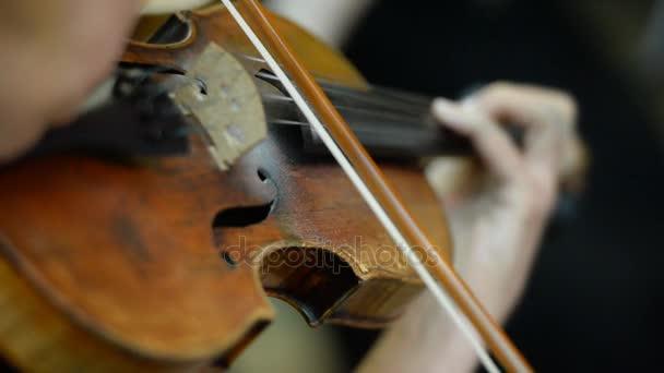 Játsszon a hegedű közelről