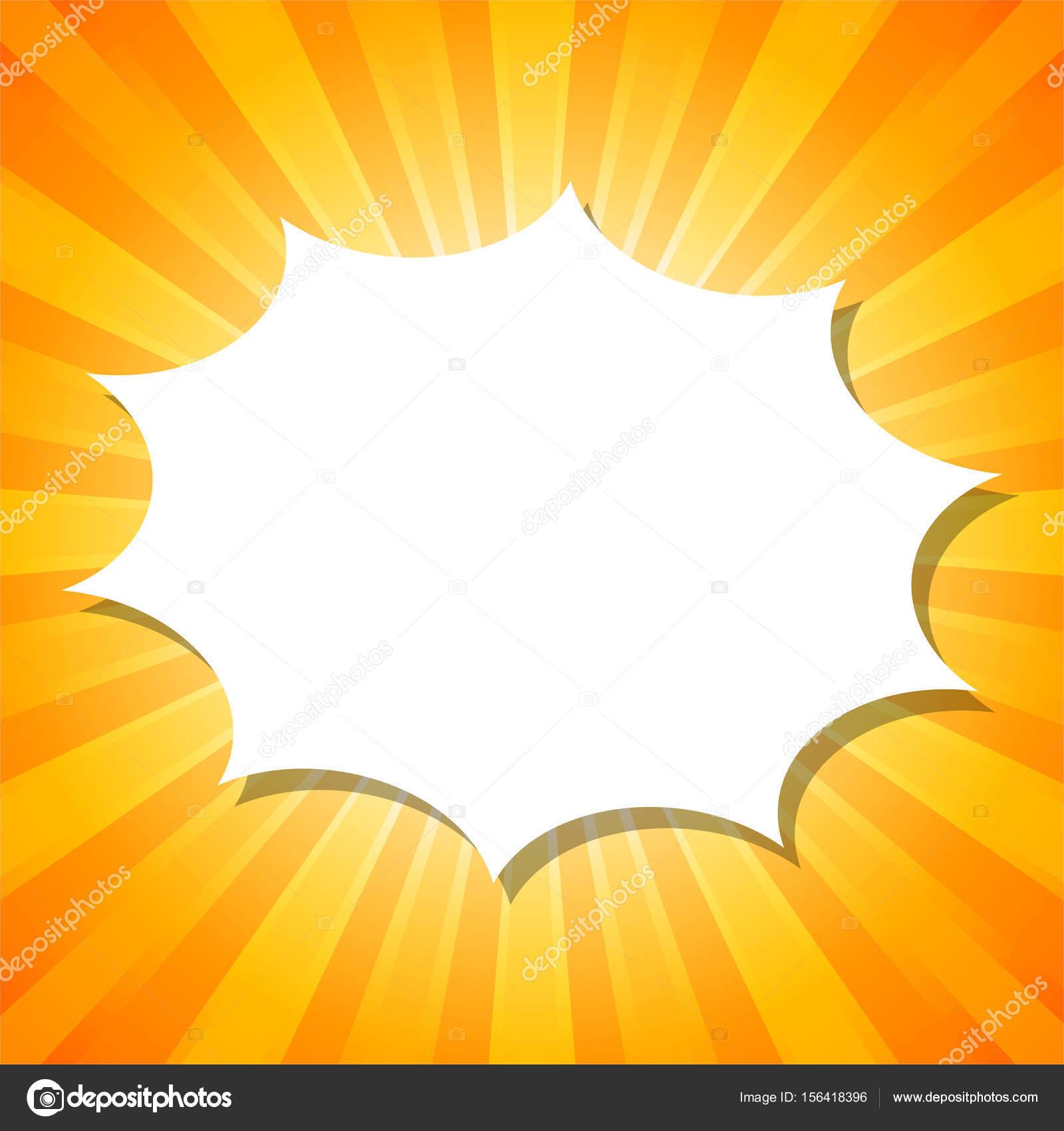Blanco impresionar plantilla nube sobre fondo abstracto naranja con ...