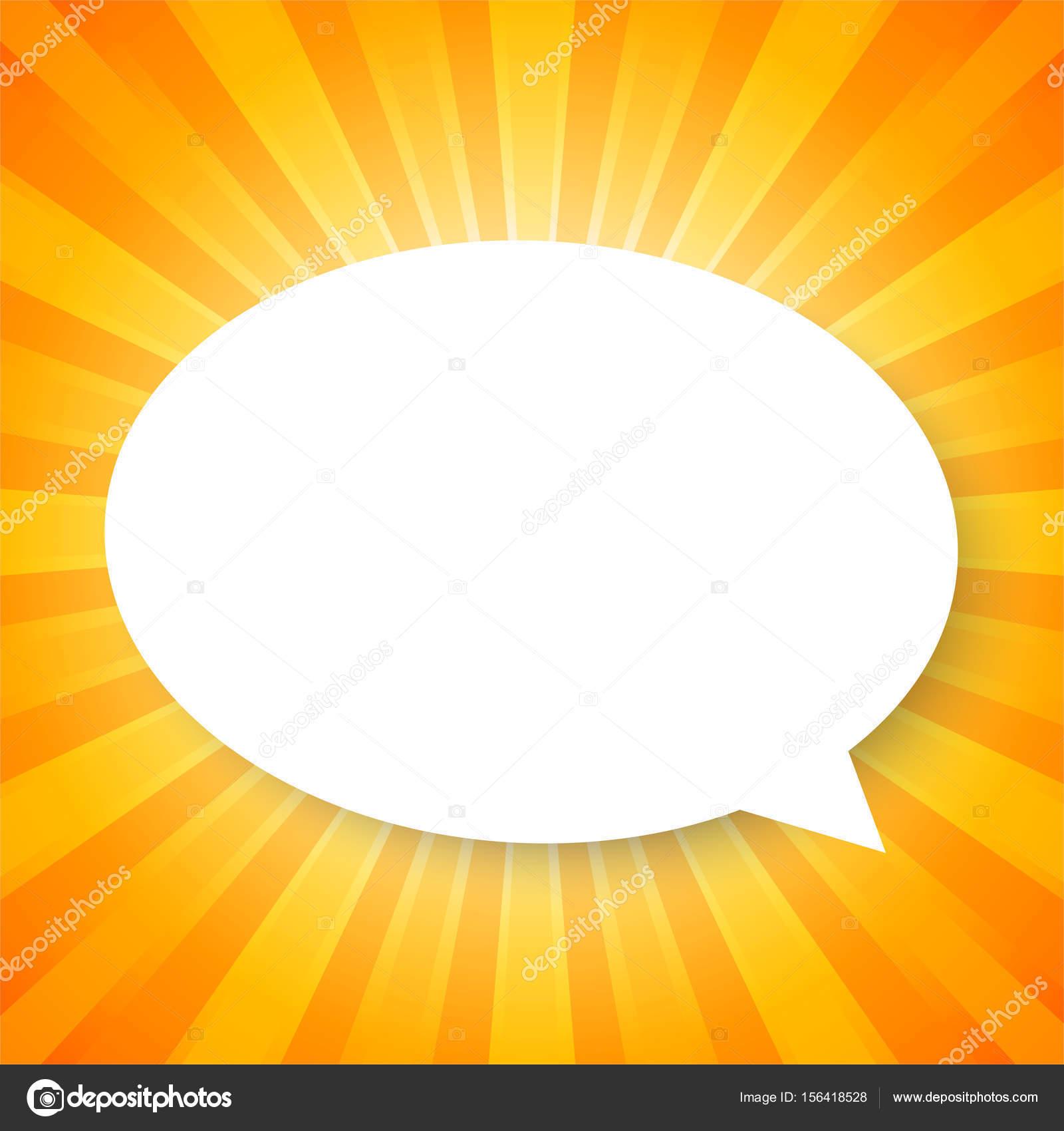 White Cloud Kreis Vorlage auf Orange abstrakten Hintergrund mit ...