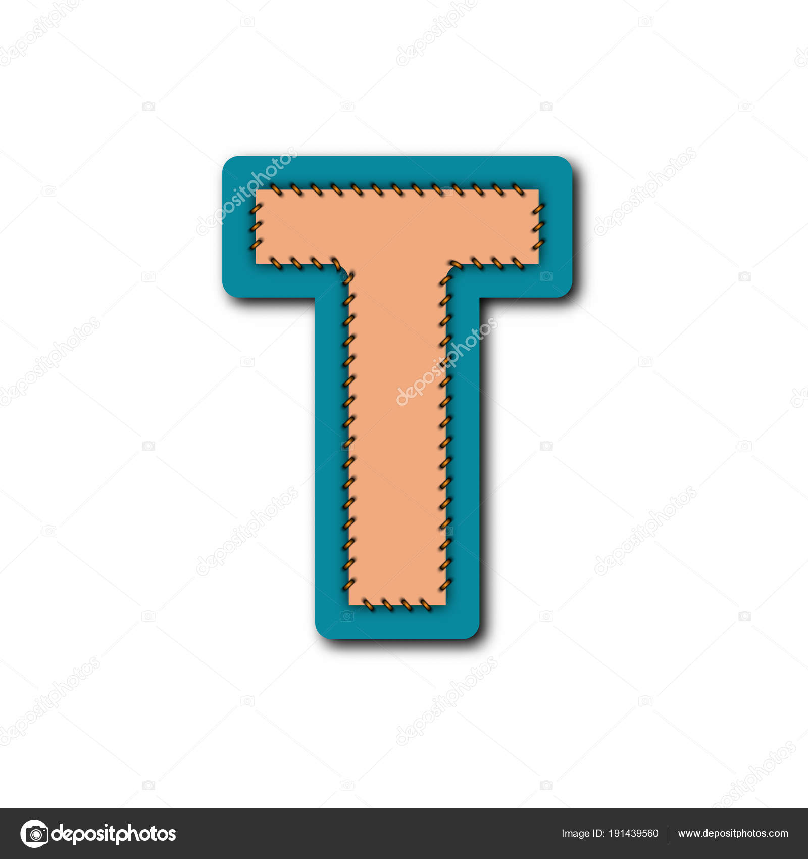 Character Alphabet Embroidered Patch Work Concept Vector Graphic Idea  Design — Stock Vector