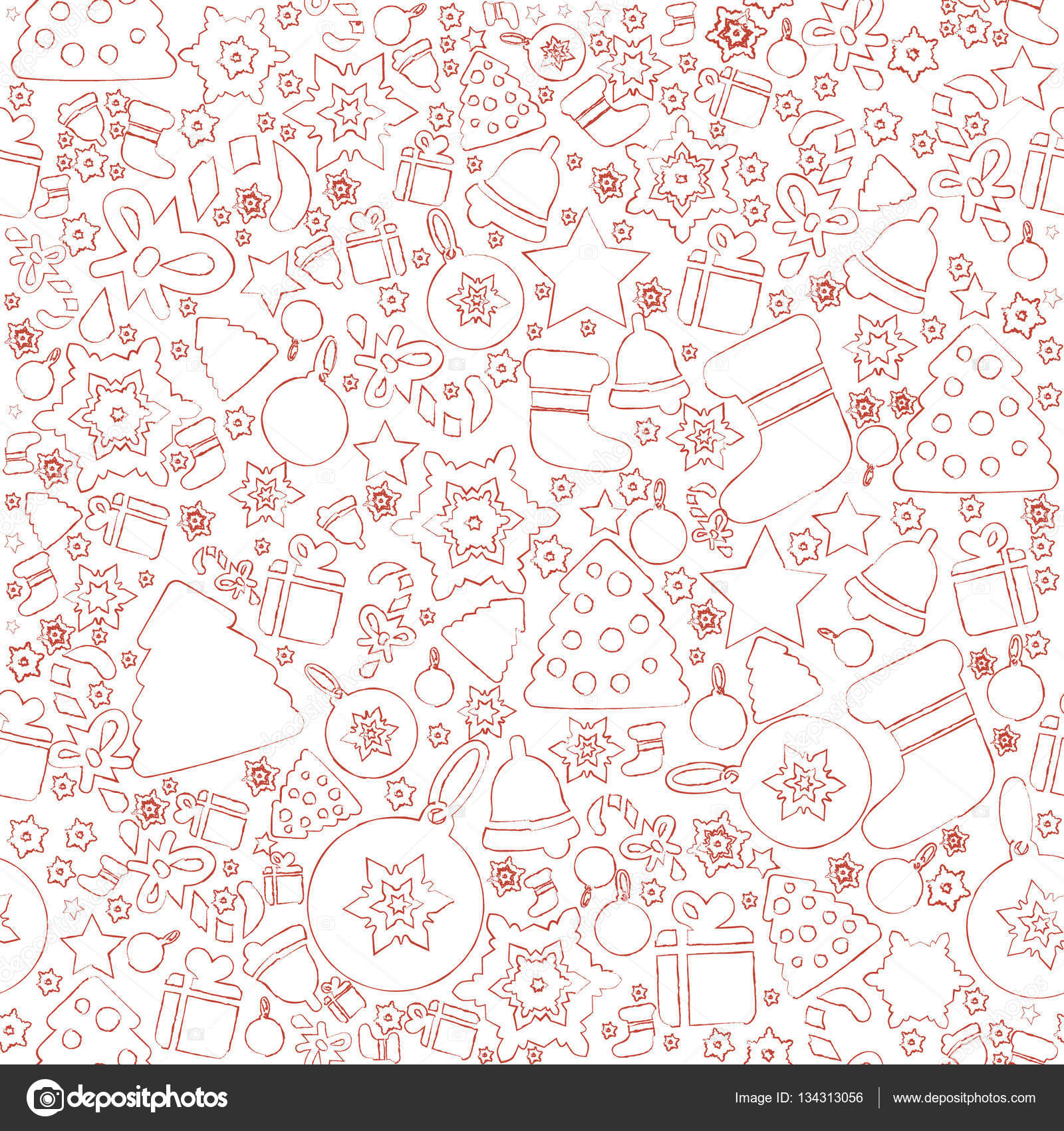 Christmas elements pattern — Stock Vector © indie #134313056